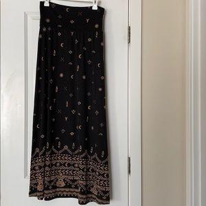 NWOT Tribal Print Maxi Skirt